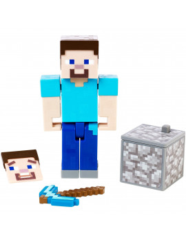 Minecraft Comic Maker Steve Action Figure with 2 Faces