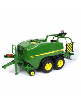 1/16 John Deere C441R Tandem Axle Wrapping Round Baler by Bruder 9819