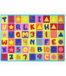 ABC Puzzle Letters and Numbers Kids Educational play mat For School/Classroom / Kids Room/Daycare/ Nursery Non-Slip Gel Back Rug Carpet-(3 by 5 feet)