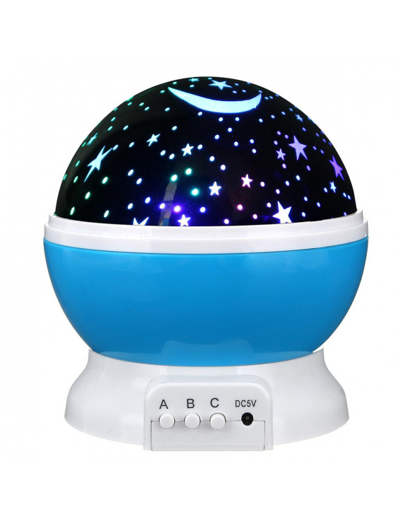 Constellation Night Light Baby Kids Lamp Moon Star Sky Projector Rotating Cosmos Boy's Toys Gift Present For 2 to 15Years Old 360 Degree Rotating
