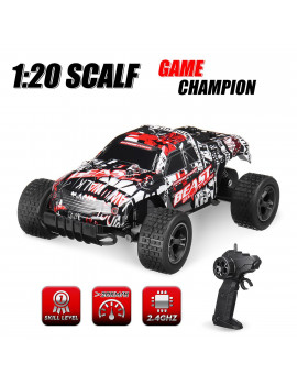 2.4GHz 1:20 Remote Control Car High Speed RC Electric Monster Truck OffRoad Vehicle For Children Kids Boys Toys Gift