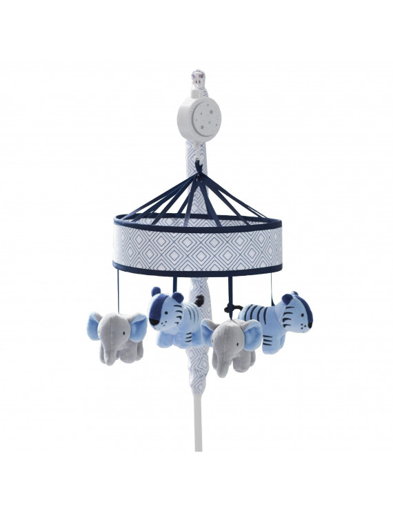Just Born Dream Musical Mobile, Grey/Blue/Navy