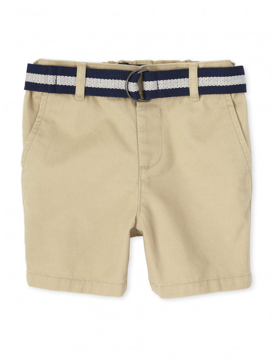 The Children's Place Baby & Toddler Boy Solid Belted Chino Short