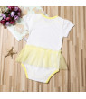 Toddler Baby Girl Kids Floral Top Romper Dress Lace Tutu Outfit Clothes