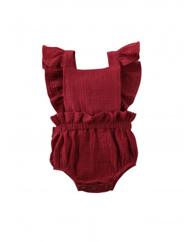 0-24M Newborn Infant Baby Girl Ruffles Romper Solid Jumpsuit Overalls Summer Soft Baby Girls Clothes Costumes