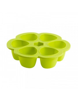 Beaba Multiportions 3oz Silicone Baby Food Freezer Tray - Neon