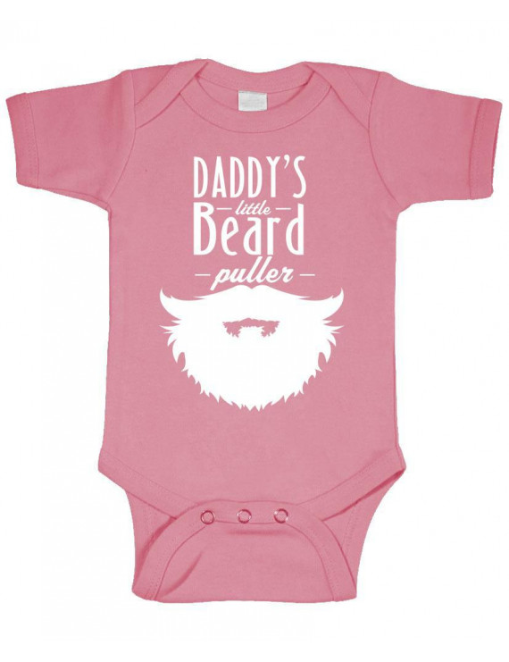 DADDY'S LITTLE BEARD PULLER - epic manly - Cotton Infant Bodysuit