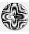 Designart 'Black and White Optical Illusion' Metal Wall Clock