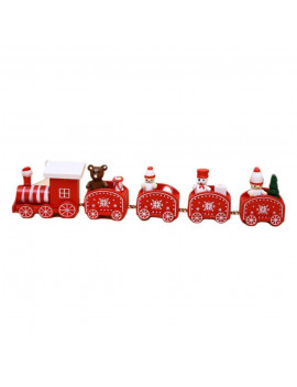 Cute Wooden Christmas Train with Snowman, Mini Train Decor, Christmas Train Ornament Toys for Kids Gift Home Decoration