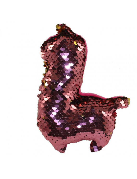 Rhode Island Novelty - Flip Sequin Plush - ALPACA (Sequin - Pink & Gold)(6 inch)