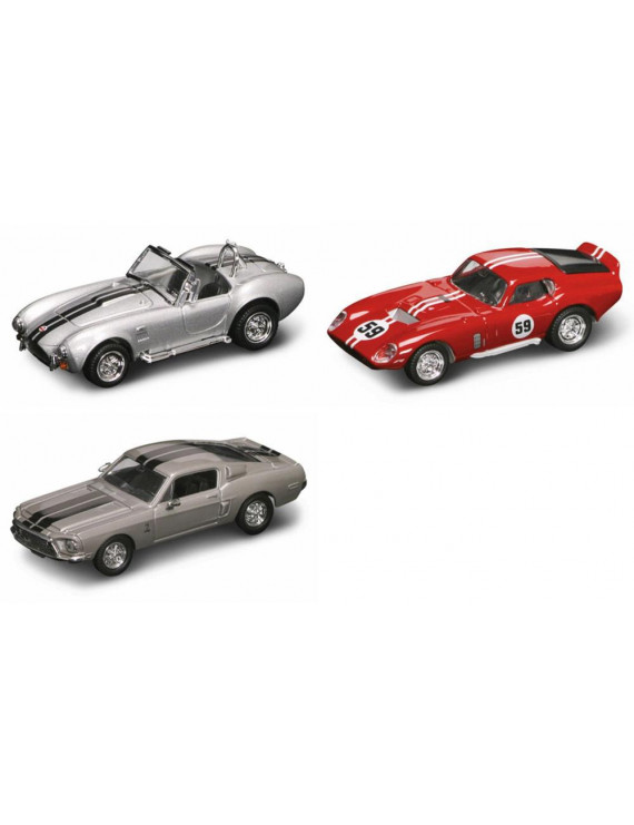 Shelby Classics Diecast Car Package - Three 1/43 Scale Shelby Classics Diecast Model Cars