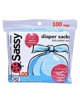200 Count - Sassy Diaper Sacks  (2, 100 Count, Packs)