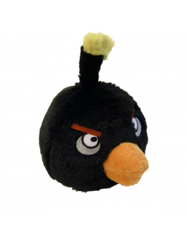 "Angry Birds Black Bird 5"" Plush With Sound"