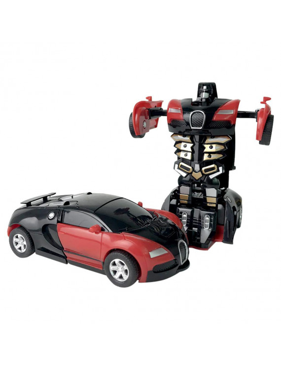?MIARHB?1:32 Pull Back The Collision Car Children Deformation Car Robot Toy For Kids
