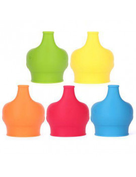 AkoaDa Sippy Cup Lids by MrLifeHack - (4 Pack) - Makes Any Cup Or Bottle Spill Proof - 100% BPA Free Leak Proof Silicone