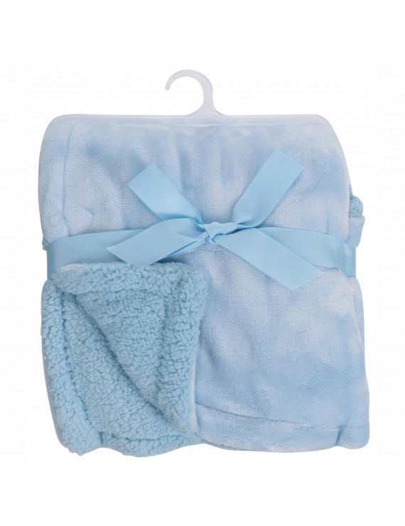 "Little Starter Light Blue Perfectly Cozy Royal Plush Blanket- 30"" x 40"""
