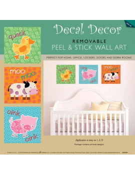 """Nursery Animal Sounds"" Wall Decals"