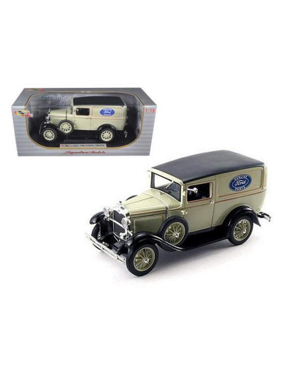 Signature Models 18137tan 1931 Ford Model A Panel Delivery Truck 1-18 Diecast Model Car