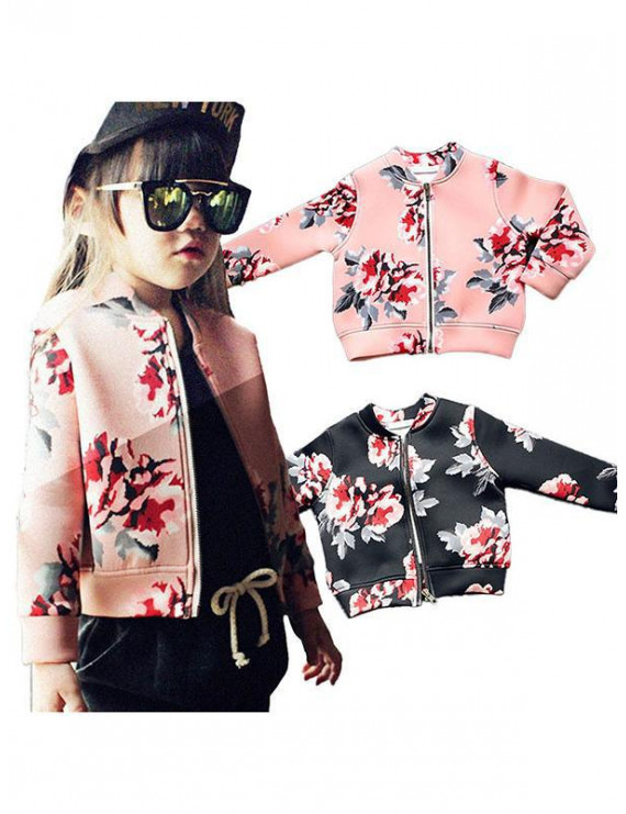 Topumt Baby Girl Boys Floral Fall Hooded Coat Kids Toddler Outerwear Jacket Clothing