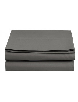 1500 Thread Count Hospitality Fitted Sheet 1-Piece Fitted Sheet, Full Size, Grey