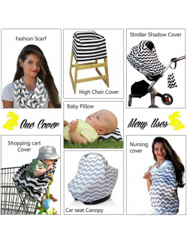 2in1 Nursing Scarf Cover Up Apron for Breastfeeding ;amp; Baby Car Seat Canopy Cover
