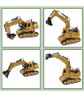 Remote Control Tractor Excavator- Interactive Construction Toy by Hey! Play!