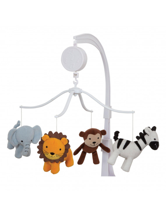 Bedtime Originals by Lambs Ivy Jungle Buddies Musical Mobile, Brown