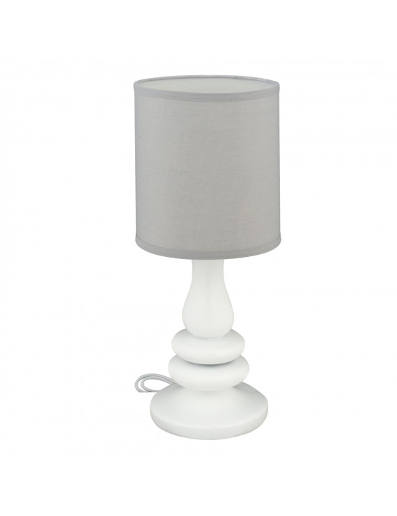 Little Love Lamp White Resin /Grey Shade, 1.0 CT