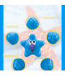 Animals Swimming Water Toys Colorful Soft Floating Rubber Duck Squeeze Sound Squeaky Bathing Toy For Baby Bath Toys