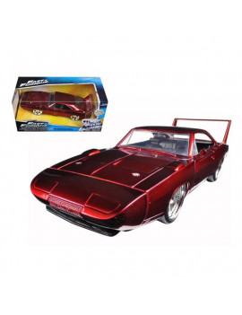 1969 Dodge Charger Daytona Red Fast & Furious 7 Movie 1-24 Diecast Model Car
