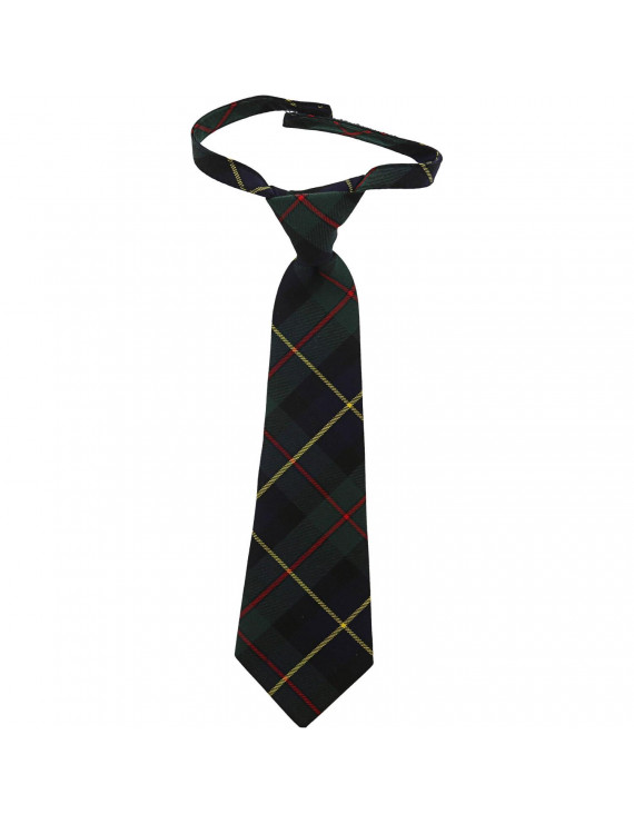 Janie And Jack Plaid Tie Neckty - 2-5 - Green Plaid