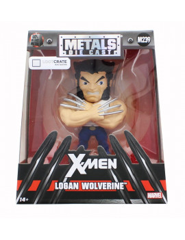 "Jada Metals Diecast X-Men 4"" Logan Wolverine Kids Toy"