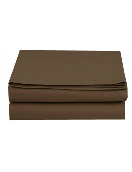 1500 Thread Count Hospitality Fitted Sheet 1-Piece Fitted Sheet, Queen Size, Chocolate Brown