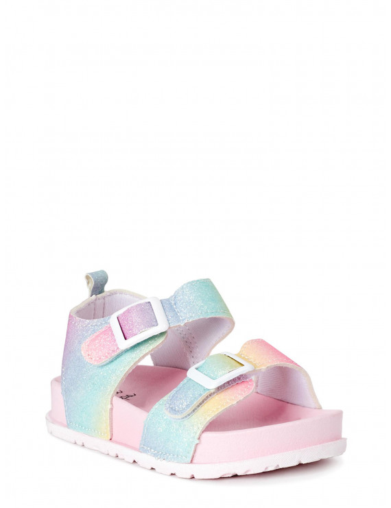 First Steps by Stepping Stones First Walker Ankle-Strap Buckle Sandal (Infant Girls)