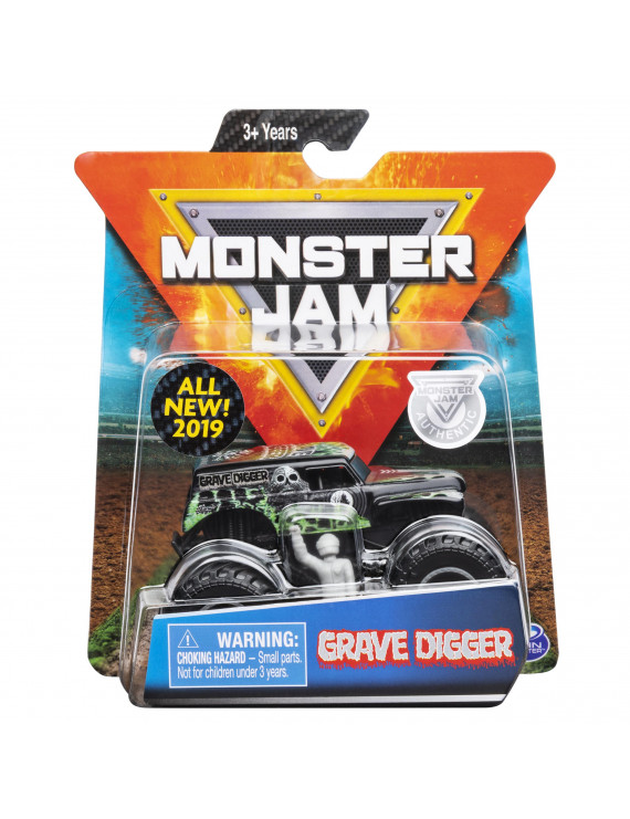 Monster Jam, Official Grave Digger Monster Truck, Die-Cast Vehicle, Over Cast Series, 1:64 Scale