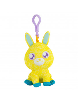 The Original Doodle Bear Clip-On Plush Toy with 1 Mini Washable Marker - Yellow Bunny