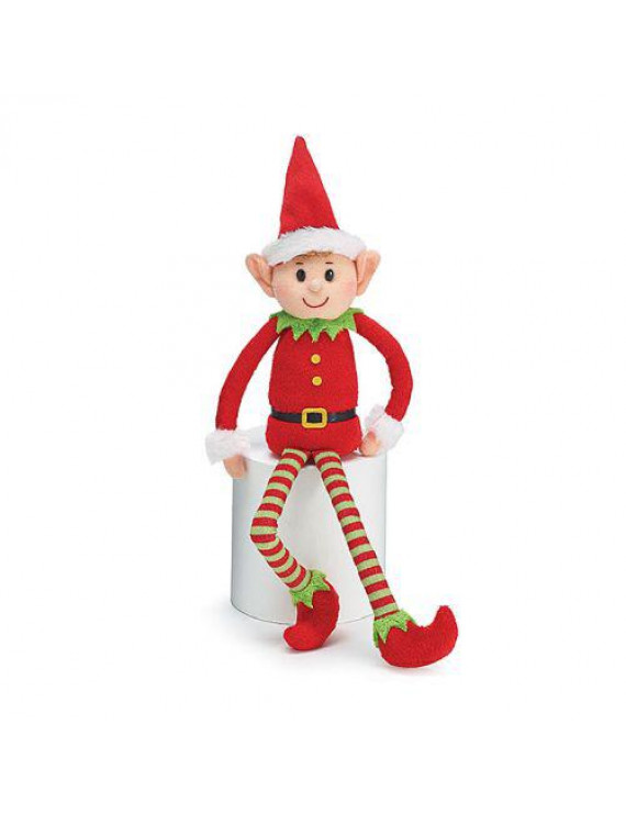 "Burton & Burton Plush 13"" Little Red Elf"