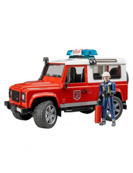 Bruder Toys Land Rover Station Wagon Light Up Fire Department Vehicle w/ Fireman