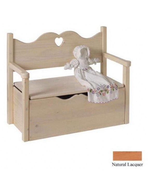 Little Colorado Bench Toy Box - Natural - Heart Cut Out