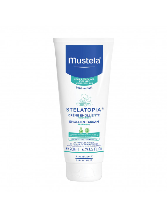 Mustela Stelatopia Baby Emollient Cream for Eczema-Prone Skin, Fragrance-Free, 6.76 fl oz