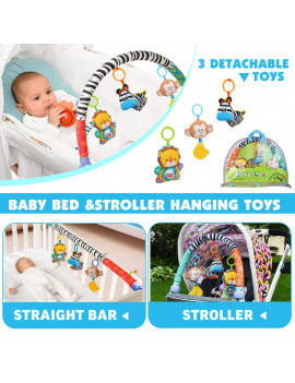 2 in1 Hanging Bell Baby Kids Crib Toys Newborn Toddlers Playing Handbells Adorable Baby Car Crib Stroller Animal Rattles Wind Chime Activity Toys