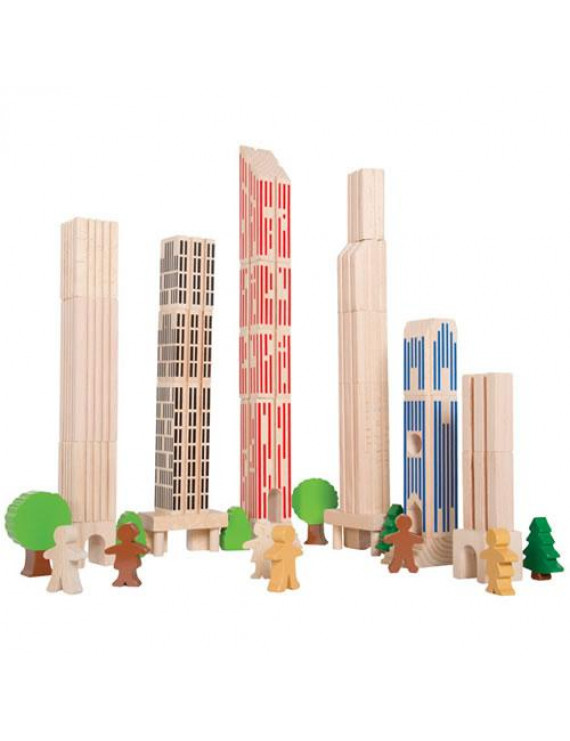 Big City Building Blocks Set - 36 pieces