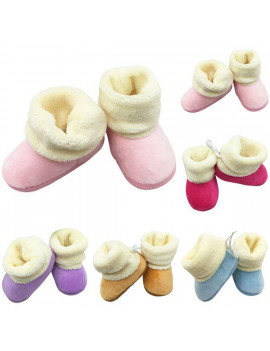 0-18M Winter Warm Infant Baby Shoes Booties Soft Soled Slippers Anti-slip Shoes