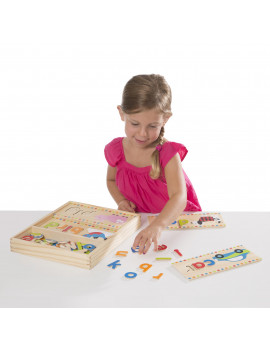 Melissa & Doug First Words Wooden Spelling Boards Letter Matching Activity (69 Pieces)