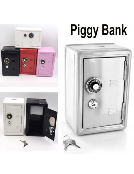 Electronic Piggy Bank Cash Coin Can, Electronic Money Bank, Mini ATM Money Saver Coin Bank Password Box Saving Banks, Great Gift Toy for Kids Children
