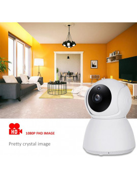 1080P HD Wifi Security Camera Indoor Night Vision Wireless Pan&Tilt IP Camera Home Surveillance System, Two-Way Audio P2P Baby Monitor Home Security Surveillance Rotate