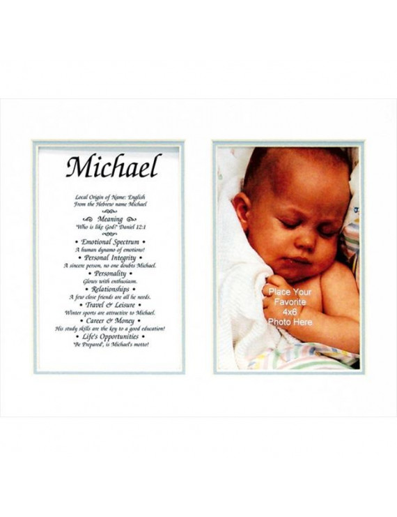 Townsend FN03Octavio Personalized Matted Frame With The Name & Its Meaning - Octavio
