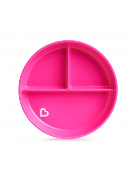 Munchkin Stay Put Pink Suction Plate