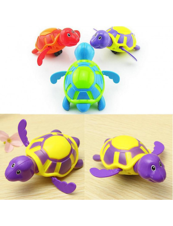 Baby Bath Toy, Swimming Turtle, Floating Wind-up Bathtub Pool Toys Cute Water Play Sets for Kids Boys Girls