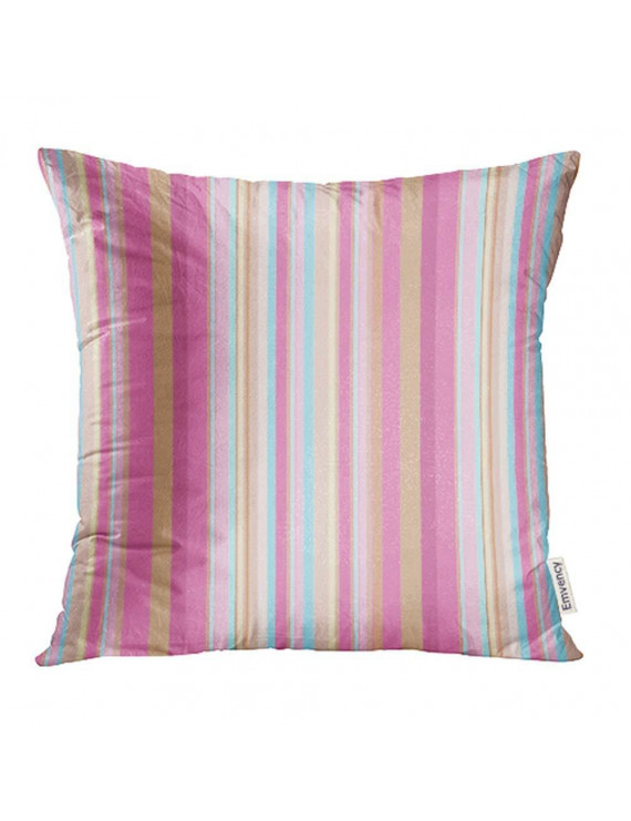 USART Blue Baby Colorful Pink Brown Stripes Purple Child Mom Cool Wedding Day Pillowcase Cushion Cover 18x18 inch